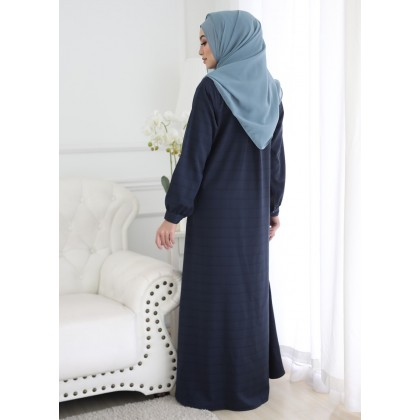 Jubah Checkered 2 - Midnight Blue