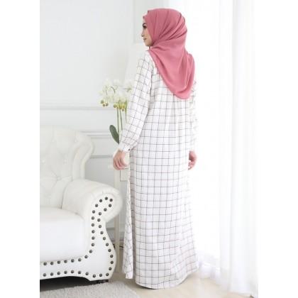 Jubah Checkered 2 - White