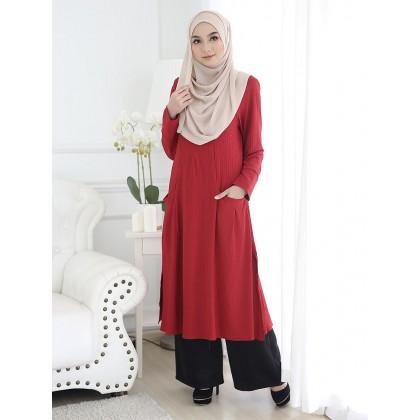 Tunic Leesa - Crimson Red