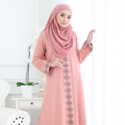 Abaya Marwa Peach