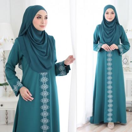 Abaya Marwa Emerald Green